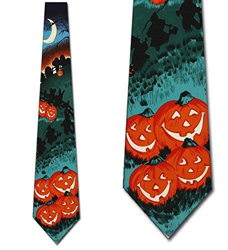 Three Rooker Kürbis-Krawatte für Herren, Halloween-Design