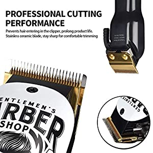 BESTBOMG Professional Hair Clipper, Graffiti Cordless Clippers Hair Trimmer Beard Shaver Electric Haircut Kit Ceramic Blade 2000mAh Rechargeable Battery LED Indicator for Men and Family Use