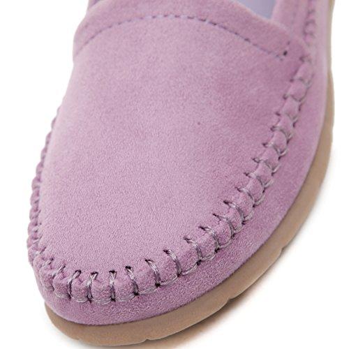 DQQ donna Stich mocassino slip on scarpe basse Purple