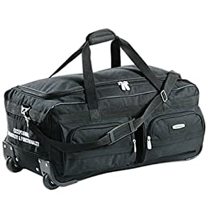 aspensport grand sac de voyage avec roulettes noir bagages. Black Bedroom Furniture Sets. Home Design Ideas