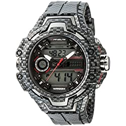 Uphase – UP703-155 – Men's watch – analogue and digital quartz – Grey plastic strap