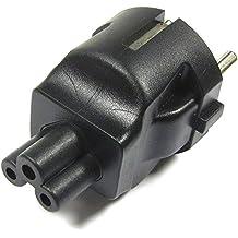 Cablematic - Adaptador de conector IEC-60320 C5 a Schuko