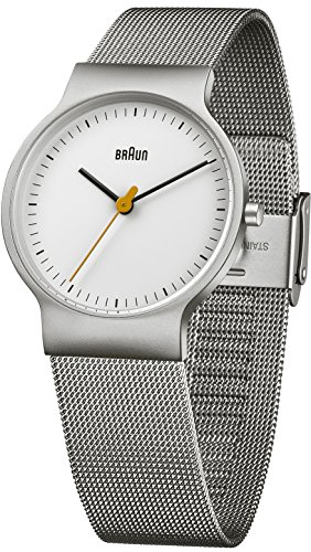 £123.75 Latest Braun Men's Watch Analogue Quartz Classic Wrist Watch Stainless Steel BN0211WHSLMHL