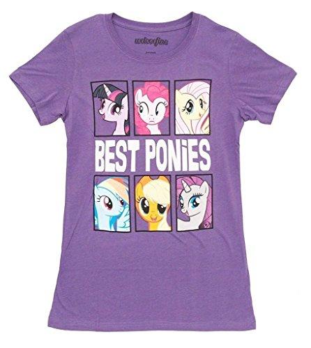 My Little Pony Best Ponies Character Frames Juniors Grape Purple T-shirt