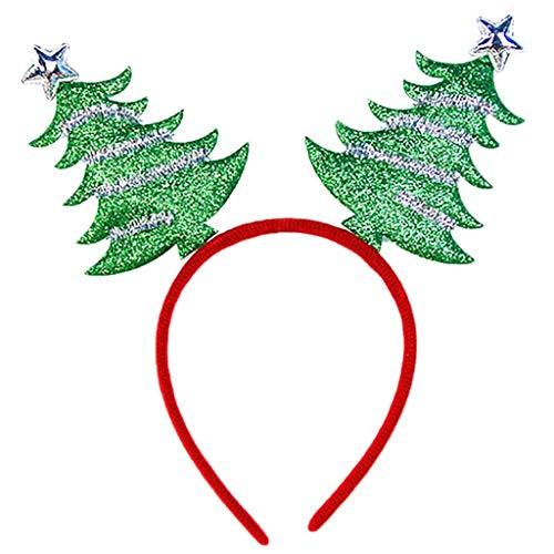 LOPILY Weihnachtsschmuck Rentier Horn Glitzer Pailletten Haarreife mit Elch Horn Haarschmuck Weichnachtsbäume Erwachensene Weihnachtskostüme Rote Weihnachtsdeko Grün Goldene Harrband