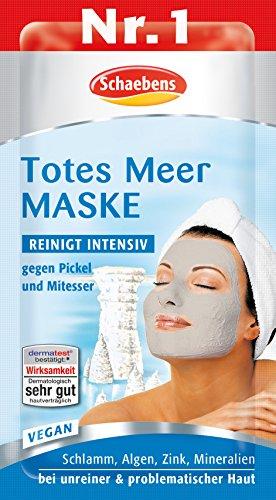 Schaebens Totes Meer Maske, 15er Pack (15 x 15 - Totes Gesicht Peeling Meer