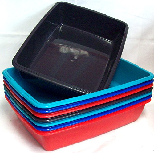 2-x-whitefurze-40cm-medium-size-plastic-cat-litter-tray-home-tidy-tray-assorted