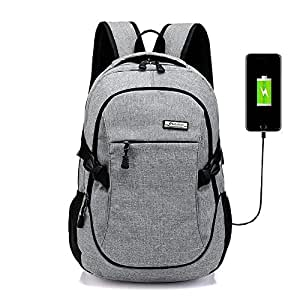 Goatter Canvas Material School Backpack & Laptop Backpack with USB Charging Point
