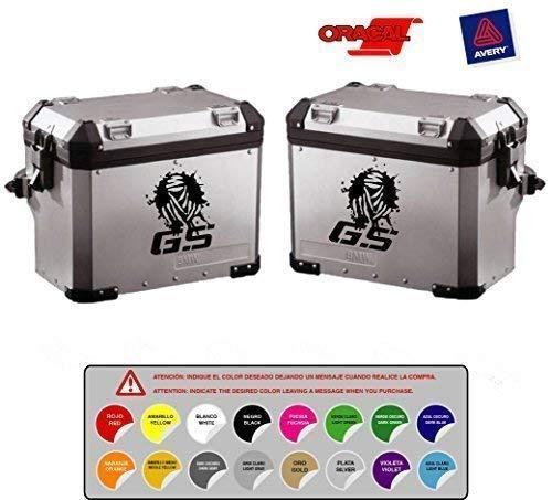 Sticker Adesivo Compatibile con BMW GS Dakar R 1200 1150 1100 800 Punzonati (Disponibile in 16 Colori) Kit 2 Unità