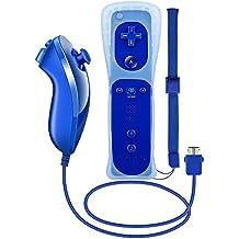 Mando y nunchuck para Wii, de Prous, XW12 mando y nunchuck para Nintendo Wii XW12, con funda de silicona y correa de muñeca para Wii y Wii U
