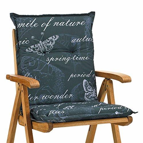 Niederlehner Sessel Auflagen 8 cm dick 103 cm lang Ibiza 40240-700 grau (ohne Stuhl)