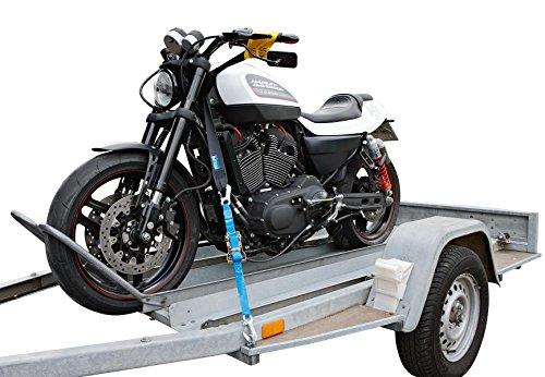 allsafe Transport Sicherung für Motorrad - Set mit Filz-Kratzschutz - Vorderradbefestigung