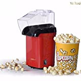 VelKro Red Hot Air Popcorn Maker Popper Popping Machine 1200 Watts
