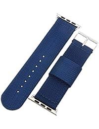 42 mm de la NATO correas de reloj de nylon estilo de lona de los hombres de perlón militares azul de alta calidad correas…