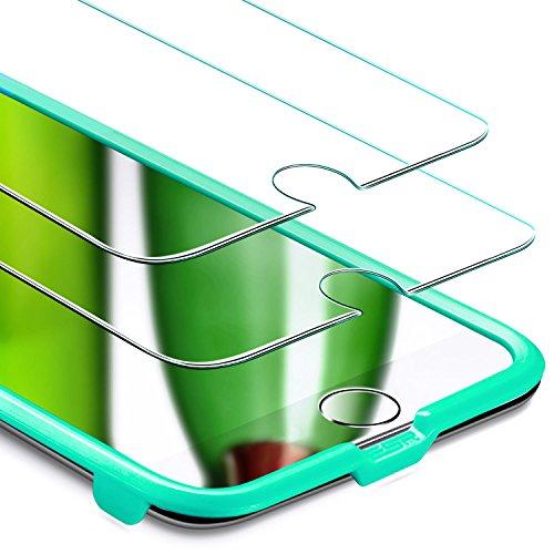 ESR Schutzfolie für iPhone 8 Plus Panzerglas, iPhone 7 Plus, [2.5D Abdeckung] 9H Härte Ultra Klar, Anti-Kratzer für iPhone 8 Plus, 7 Plus, 6 Plus (5.5 Zoll), 2 Stück