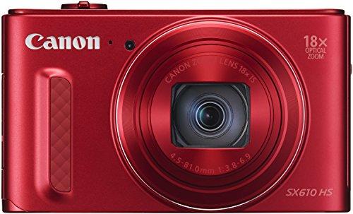 Canon PowerShot SX610 HS Digitalkamera (20,2 MP, 18-fach opt. Zoom, 36-fach ZoomPlus, 7,5cm (3 Zoll) Display, opt. Bildstabilisator, WLAN, NFC) rot