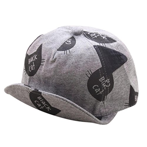 Babybekleidung Hüte & Mützen Longra Baby Mütze für jungen Mädchen schwarze Katze Hut Kinder Frühjahr-Sommer Hüte (3-24Monate) (Gray)