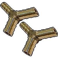 AERZETIX: 2x Conexiones conector triple en Y de aire comprimido compresor ô8mm acoplador de enchufe