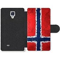 Norwegian Flag Norway Norske Flagg Funda Cuero Sintético para Samsung Galaxy S4