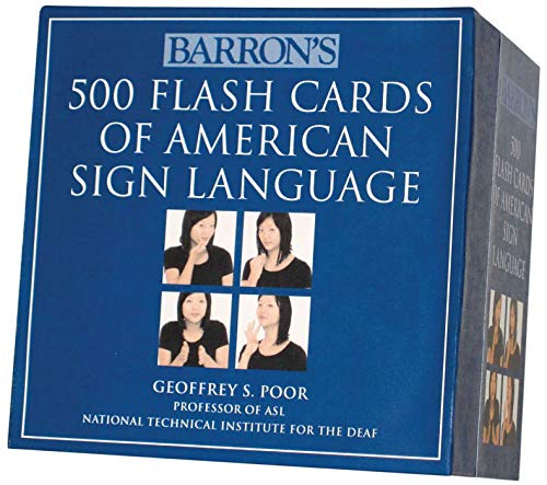 Barron's 500 Flash Cards of American Sign Language (American Sign Language Alphabet)