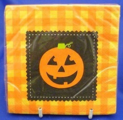 (16x Halloween Kürbis Motiv Party zweilagig Getränk Papier Servietten)