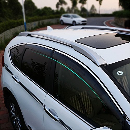 BeHave yd314w Windabweiser,Vorne Fensterdeflektor,Auto Fenster Schutzrahmen,Auto Fensterführungsrahmen,1 Satz von 4 Stücken,Schwarz Transparent Geeignet für honda cr-v 2014 2015 2016