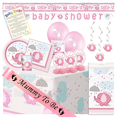 Uk Baby Shower Co Baby Shower Ultimate Party Pack from Pink Umbrellephants Range (8 Guest)