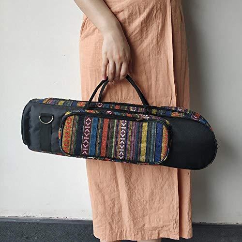 PoeticHouse Tragbare Kleine Tasche Im Ethnischen Stil - Kleine Aufbewahrungstasche Mit Doppeltem Reißverschluss Vorne - Handtaschen Strandtasche Aus Stroh - Aus Hochwertigem Oxford-Stoff - Sturdy (Handtasche Tasche Schulter-stil)