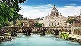 HCYEFG Puzzle per Bambino Giocattolo Regalo per Adulti St Angelo Bridge Roma Puzzle 1000 Pezzi Puzzle Gioco Fai da Te