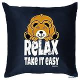 Deko/Fun-Kissen mit Füllung lustige Sprüche: Relax Take It Easy Goodman Design