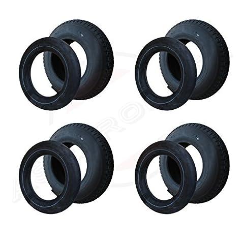 4 Satz Reifen+Schlauch 400x100 4.80/4.00-8 Stollen Profil PR4-Lagen Tragfähigkeit 305 kg