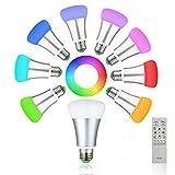 Lamp Floor Light 9W RGBW LED Birnen Dimmbare Glühlampe+ Fernsteuerungs