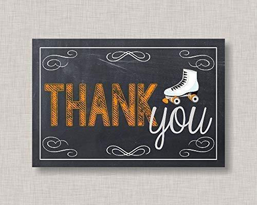 Eyrrme Lustiges Holzschild mit Rollschuh-Dankeskarte, bedruckbare Dankeskarte zum sofortigen Download Rollschuhe, Wanddekoration, Veranda, Eingang, Schreibtisch