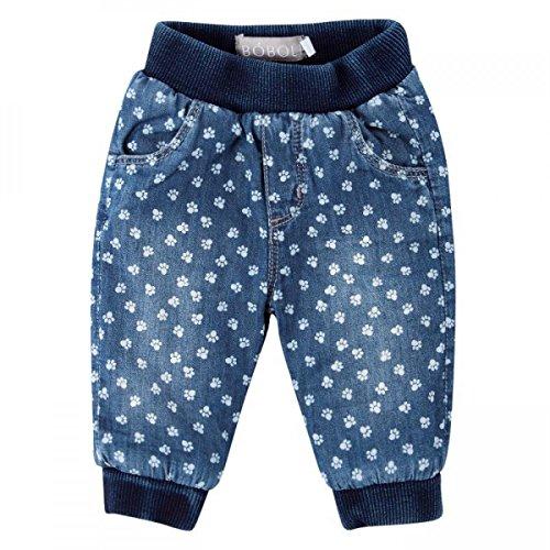 boboli Baby Mädchen Hose, Jeans, denim pant mit Pint in blue, Größe:56