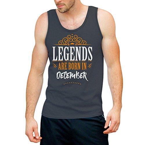 Legends are born in December - Geschenke Tank Top Dunkelgrau
