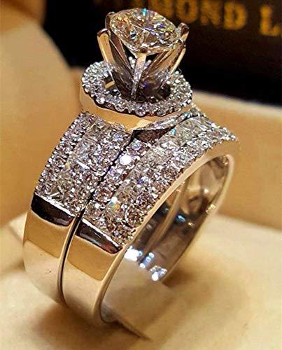 Zuxianwang anello femmina crystal big regina set anello 925 di moda nuziale di argento gli anelli di nozze per donne promettono amore anello di fidanzamento,6