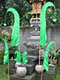 Bali-Fahne, grün, 120cm inkl. Stock