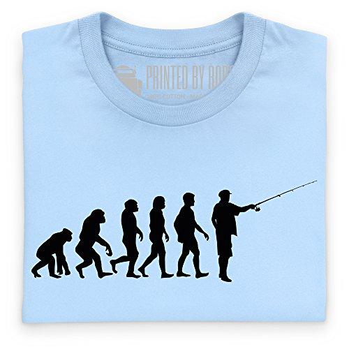 Evolution of Fishing T-Shirt, Herren Himmelblau