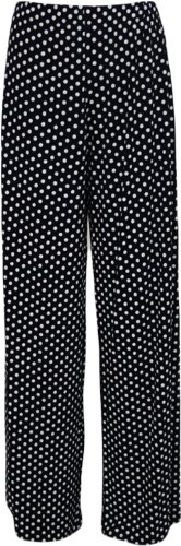 Womens Palazzo Wide Leg Flared Trousers. Sizes 12 to 26 - Choice Of Designs