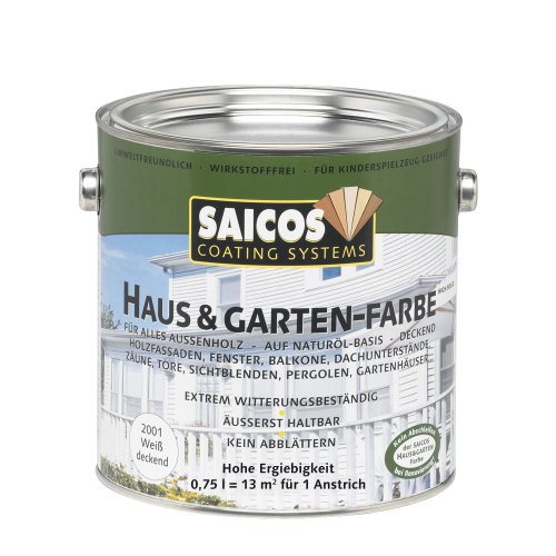 Saicos 2001 300 Haus und Gartenfarbe weiss 0.75 l