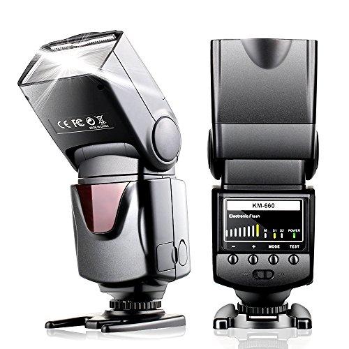 Speedlite-Flash-per-Canon-Nikon-Sony-Panasonic-Yeeteem-Flash-Reflex-Fotocamera-Speedlite-con-Hot-Shoe-Standard-supporto-1500-volte-flash-completo