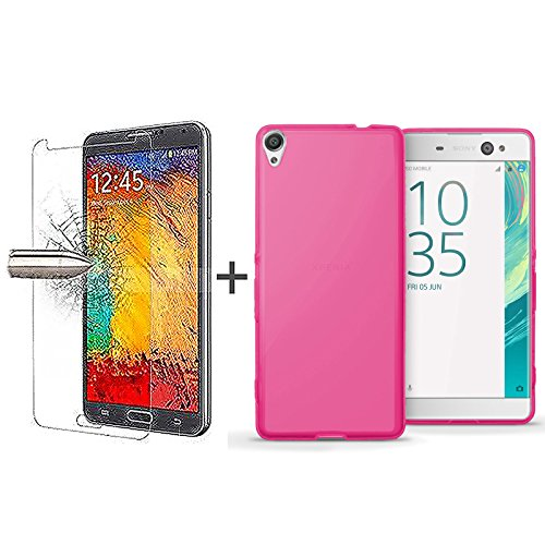 tboc-pack-pink-tpu-silicone-gel-case-tempered-glass-screen-protector-for-sony-xperia-xa-ultra-f3211-