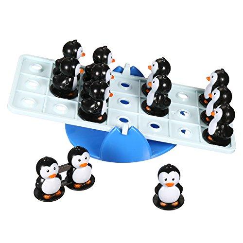 (FUNTOK Tischspiel Balance Tabelle Spiel Nicht Schaukeln Kleiner Pinguin Teeterboard Puzzle Desktop Spiel Interaktive Spielzeug Teil Familie Strategie Spiel für Kinder)