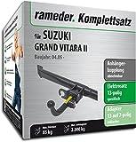 Rameder Komplettsatz, Anhängerkupplung abnehmbar + 13pol Elektrik für Suzuki Grand Vitara II (117386-05489-1)