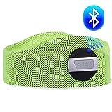 WENYI Wireless Headphones, Bluetooth Headphones, Wireless Stereo Motion Bluetooth Headset On-Ear with [Elastic Breathable Fabric] Headband and Volume Control Great for Sport/Running/Climbing/hiking Green