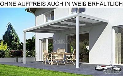 solidPREMIUM 400x300 cm BxT ALU Terrassenüberdachung ANTHRAZIT + 16mm 3-fach Stegplatten + Zubehör - ÜBERDACHUNG TERRASSENDACH ALUMINIUM VORDACH CARPORT TERRASSE WINTERGARTEN GARTENLAUBE PAVILLON SOLIDUS von SOLIDUS - Gartenmöbel von Du und Dein Garte