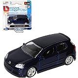 VW Volkswagen Golf V 5 R32 Dunkel Blau fast Schwarz 2003-2008 1/64 Bburago Modell Auto mit oder ohne individiuellem Wunschkennzeichen