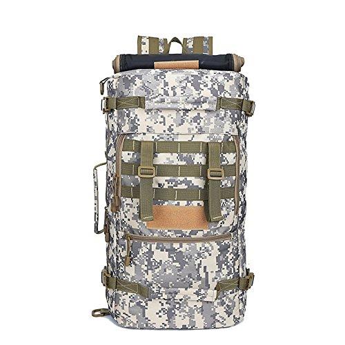 Camouflage große Kapazität outdoor Rucksack reisen Camping 50 L Bergsteigen Tasche 65 * 35 * 25 cm, drei sand Camouflage White Camouflage
