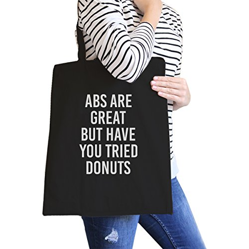 365 Printing inc , Borsa da spiaggia  Donna Adult-ish - Natural Abs Are Great But - Black