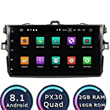ROADYAKO Quad Core Core Media für Toyota Corolla 2006 2007 2008 2009 2010 2011 Android 8.1 Autoradio-Stereoanlage mit GPS-Navigation 3G WiFi Spiegelverbindung RDS FM AM Bluetooth